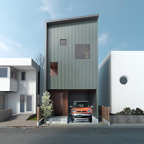八王子の狭小住宅例②:男の城をイメージ「FORT HOUSE(フォートハウス)」
