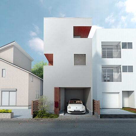 八王子の狭小住宅例①:居心地の良い隠れ家「NEST HOUSE(ネストハウス)」
